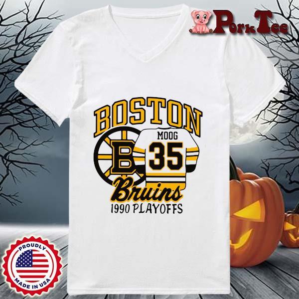 Boston Moog bruins 1990 playoffs s Ladies Porktee trang