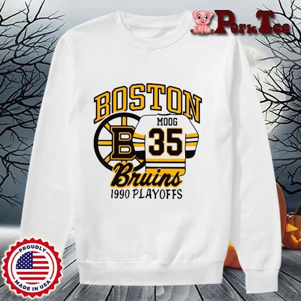 Boston Moog bruins 1990 playoffs s Sweater Porktee trang