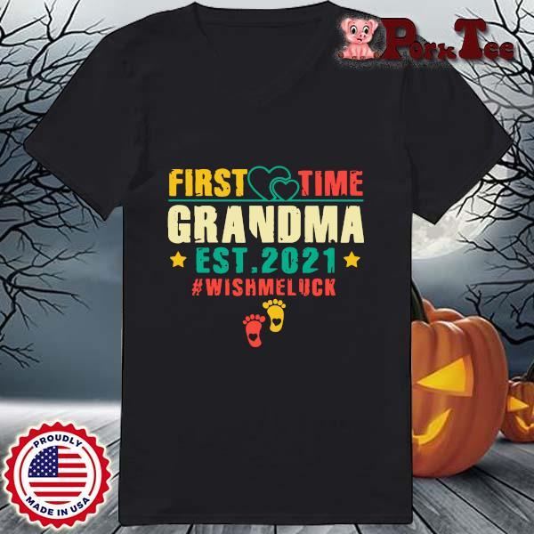 First time grandma est 2021 #Wishmeluck vintage s Ladies Porktee den