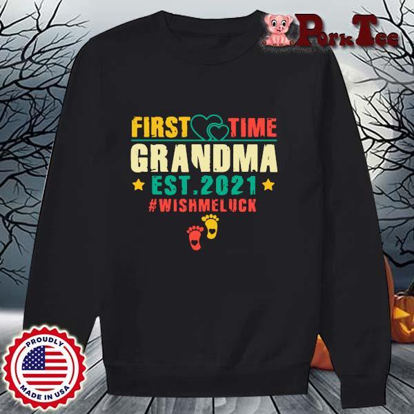 First time grandma est 2021 #Wishmeluck vintage s Sweater Porktee den