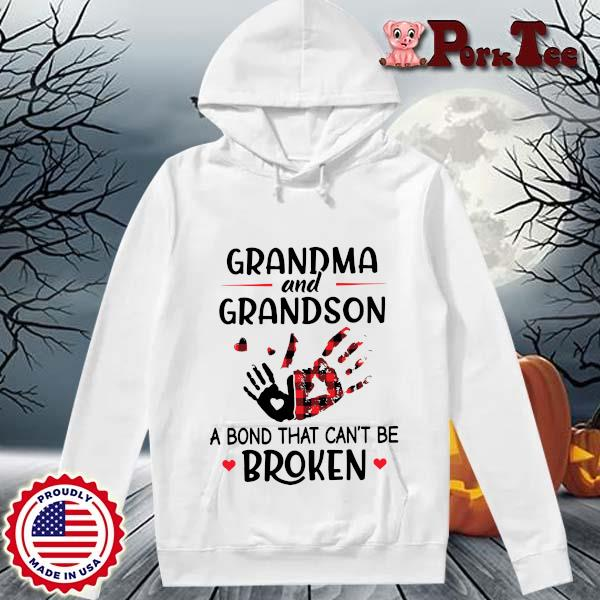 Grandma and grandson a bond that can't be broken s Hoodie Porktee trang