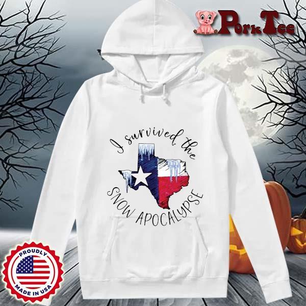 I survived the snow apocalypse Texas flag s Hoodie Porktee trang