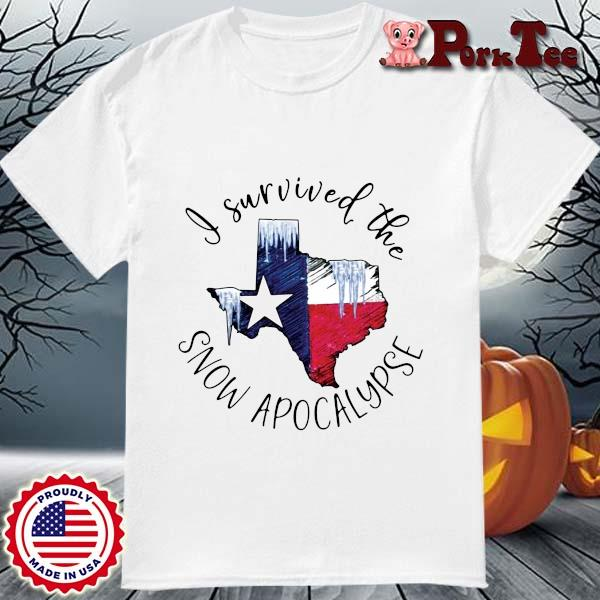 I survived the snow apocalypse Texas flag shirt
