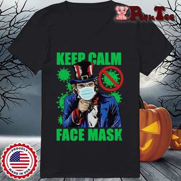 Uncle Sam keep calm face mask St Patrick's Day s Ladies Porktee den