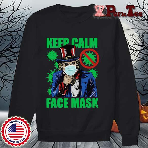 Uncle Sam keep calm face mask St Patrick's Day s Sweater Porktee den