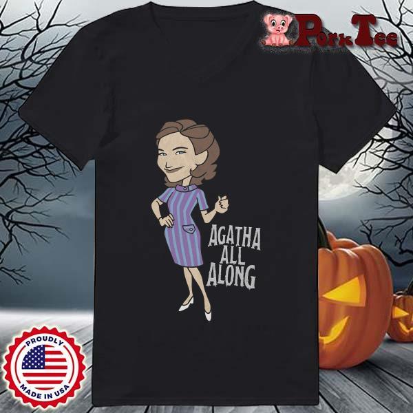 Wandavision Agatha All Along Portrait Shirt Ladies Porktee den
