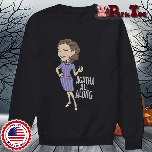 Wandavision Agatha All Along Portrait Shirt Sweater Porktee den