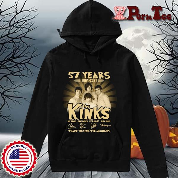 57 years 1964-2021 The Kinks thank you for the memories signatures s Hoodie Porktee den