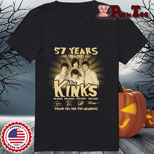 57 years 1964-2021 The Kinks thank you for the memories signatures s Ladies Porktee den