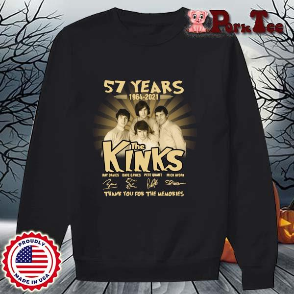 57 years 1964-2021 The Kinks thank you for the memories signatures s Sweater Porktee den