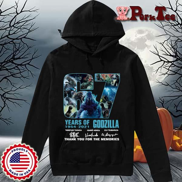 Godzilla 67 years of 1954-2021 thank you for the memories signatures s Hoodie Porktee den
