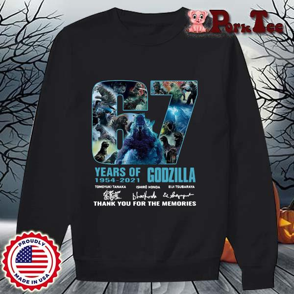 Godzilla 67 years of 1954-2021 thank you for the memories signatures s Sweater Porktee den
