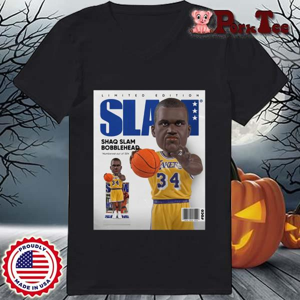 Limited Edition Slam Shaq Slam Bobblehead Shirt Ladies Porktee den