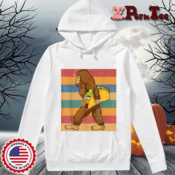 Mens Cinco De Mayo 5 Bigfoot Taco De Mayo Fiesta Vintage Shirt Hoodie Porktee trang