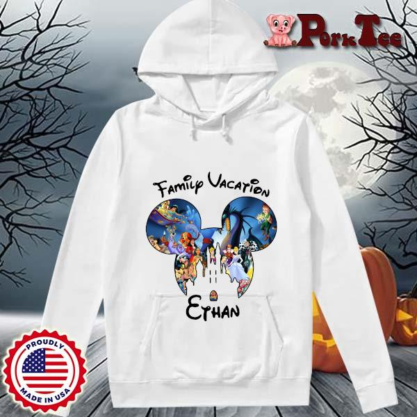 Mickey Mouse Head Family Vacation Ethan Shirt Hoodie Porktee trang