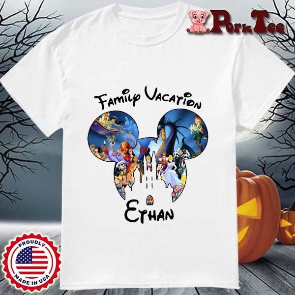 Mickey Mouse Head Family Vacation Ethan Shirt