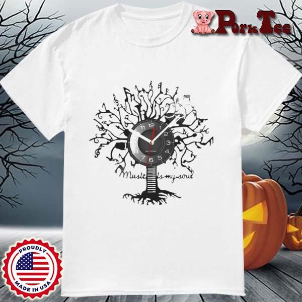 Music Is My Soul Tree Wall Clock Shirt