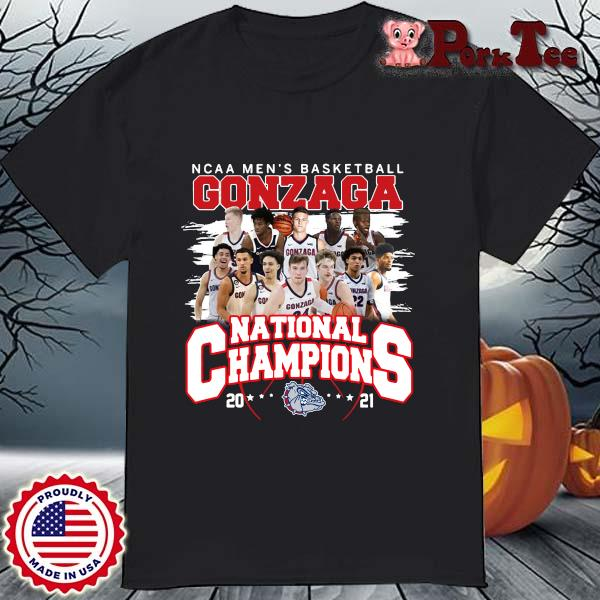Ncaa men_s basketball Gonzaga Bulldogs national champions 2021 shirt