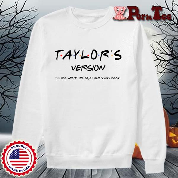 Official taylor's version the one where she takes her songs back s Sweater Porktee trang