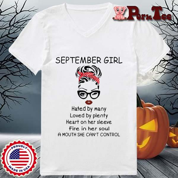 September girl hated by many loved by plenty heart on her sleeve s Ladies Porktee trang