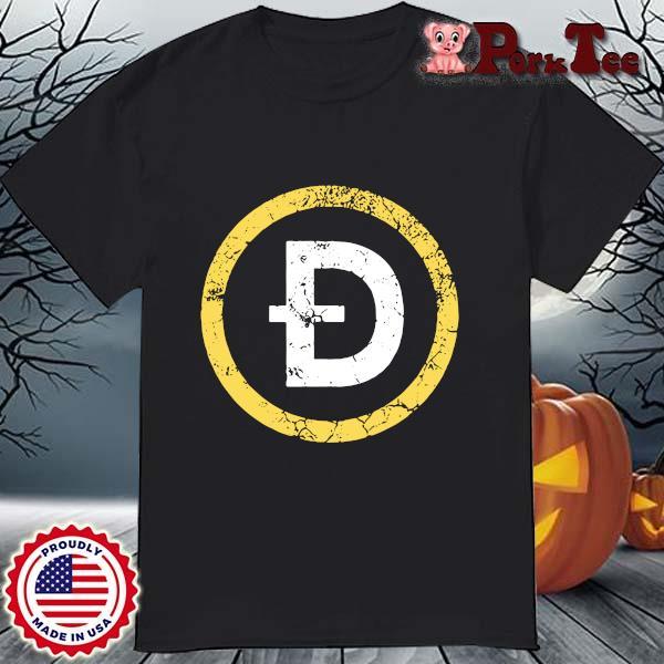 Vintage Dogecoin DOGE Crypto Distressed Logo Shirt