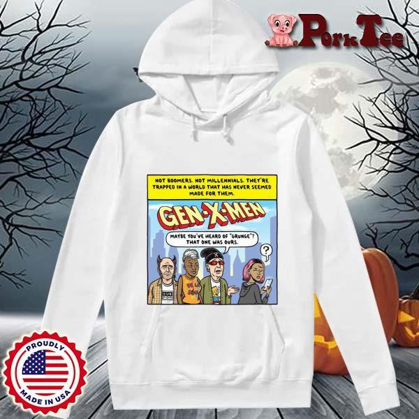 Ward Sutton Gen X Men Shirt Hoodie Porktee trang
