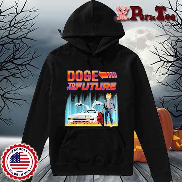 Dogecoin Elon Musk With Doge To The Future Shirt Hoodie Porktee den