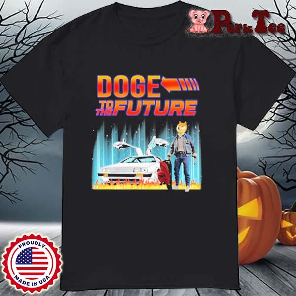 Dogecoin Elon Musk With Doge To The Future Shirt