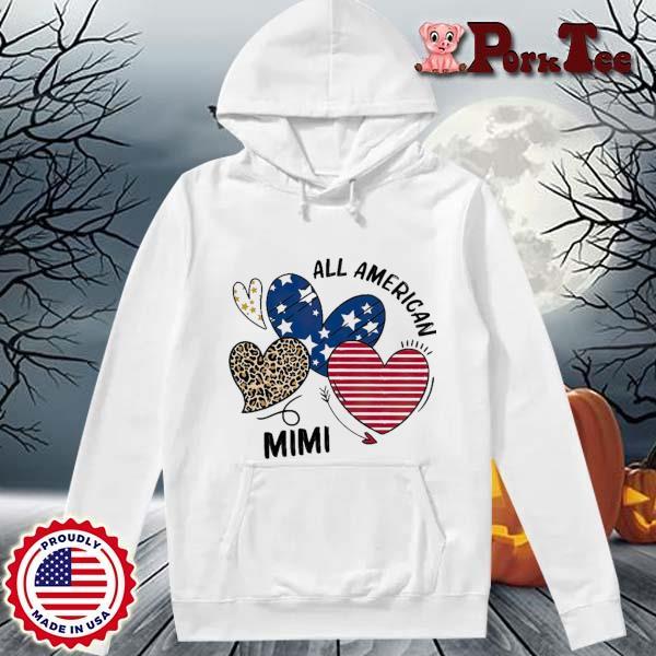 Heart All American Mimi Shirt Hoodie Porktee trang