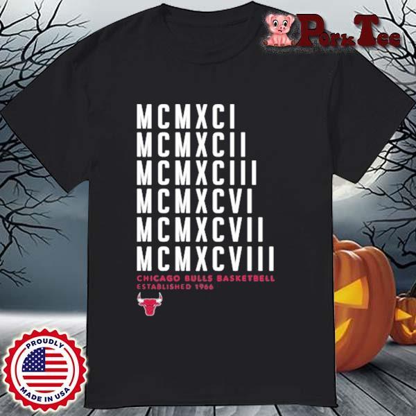 MCMXCI To MCMXCVIII Chicago Bulls Basketball Established 1966 Shirt