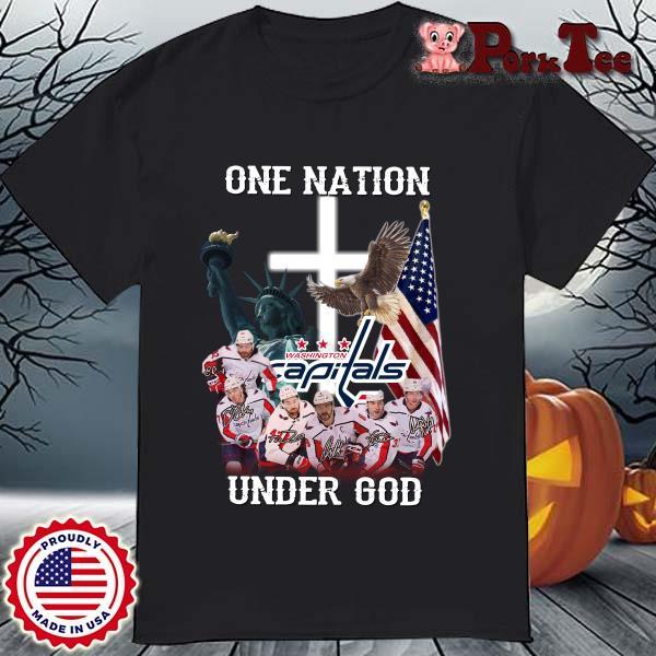 One Nation Washington Capitals Under God Signatures Shirt