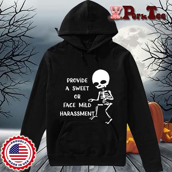Skeleton provide a sweet or face mild harassment s Hoodie Porktee den