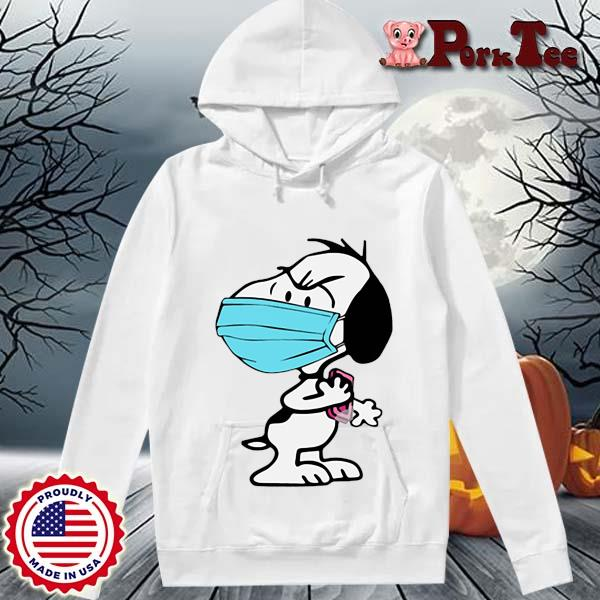 Snoopy face mask wash your hands s Hoodie Porktee trang