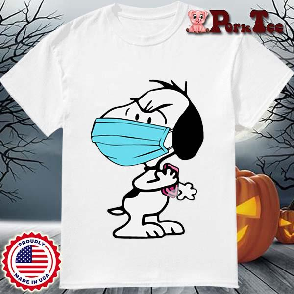 Snoopy face mask wash your hands shirt