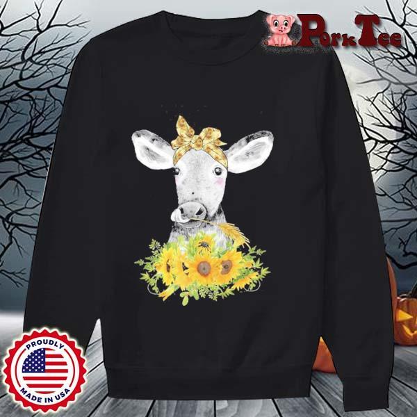 Lustige Kuh Mit Sonnenblumen Haarband Landwirtin Geschenk Shirt Sweater Porktee den