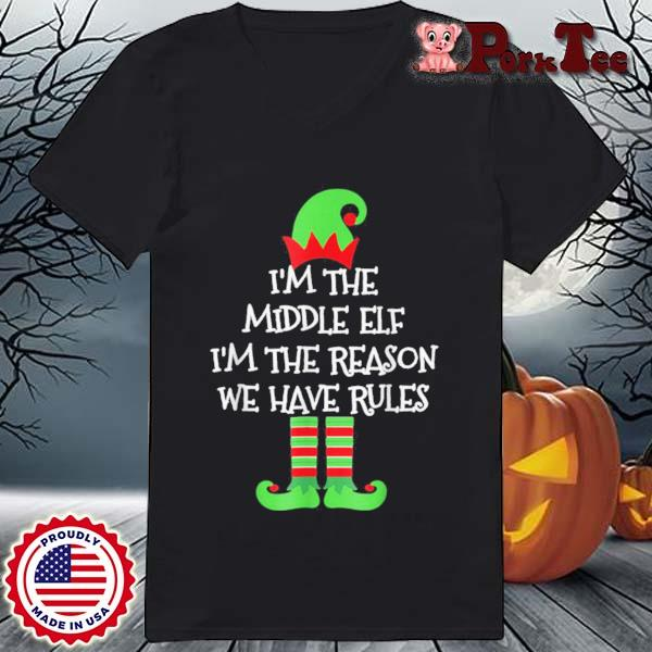 Middle Elf Matching Family Group Christmas Sweats Ladies Porktee den