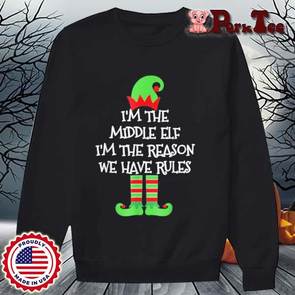 Middle Elf Matching Family Group Christmas Sweats Sweater Porktee den