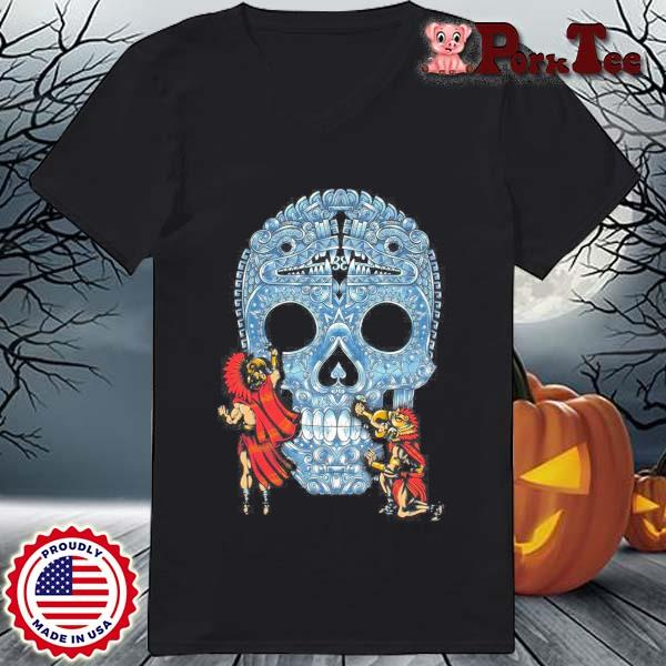 Native Sugar Skull Mexico s Ladies Porktee den