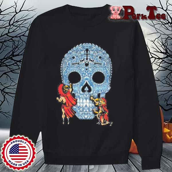 Native Sugar Skull Mexico s Sweater Porktee den