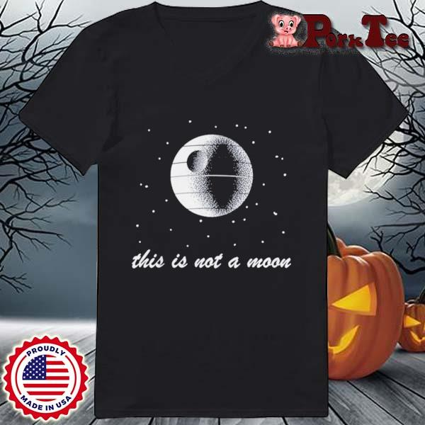 This Is Not A Moon Space Shirt Ladies Porktee den