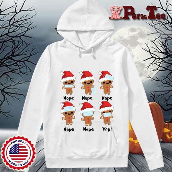 Santa Gingerbread face mask nope nope yep s Hoodie Porktee trang
