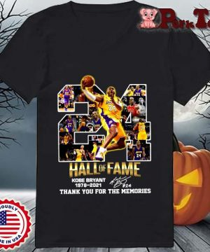 24 hall of fame Kobe Bryant 1978-2021 thank you for the memories signature s Ladies Porktee den