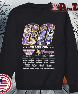 60 years of the greatest NFL teams Minnesota Vikings thank you for the memories signatures s Sweater Porktee den