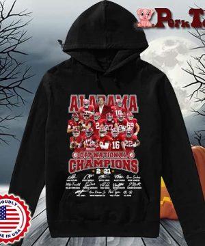 Alabama Crimson Tide CFP national Champions 2021 signatures s Hoodie Porktee den