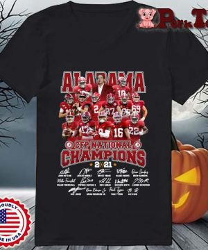 Alabama Crimson Tide CFP national Champions 2021 signatures s Ladies Porktee den