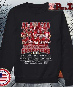 Alabama Crimson Tide CFP national Champions 2021 signatures s Sweater Porktee den