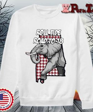Alabama Crimson Tide roll tide road to-18 s Sweater Porktee trang