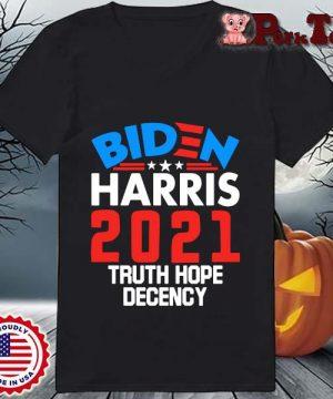 Biden Harris 2021 truth hope decency s Ladies Porktee den