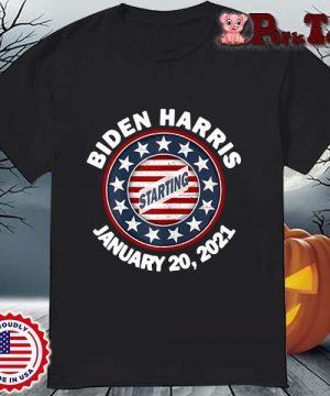 Biden Harris january 20 2021 starting shirt