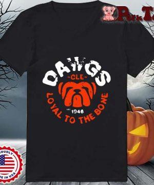 Bulldog dawgs cle 1948 loyal to the bone s Ladies Porktee den